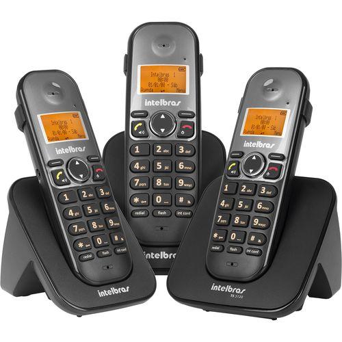 Telefone Sem Fio - Intelbras - Ts 5123 - com Ramal - Preto