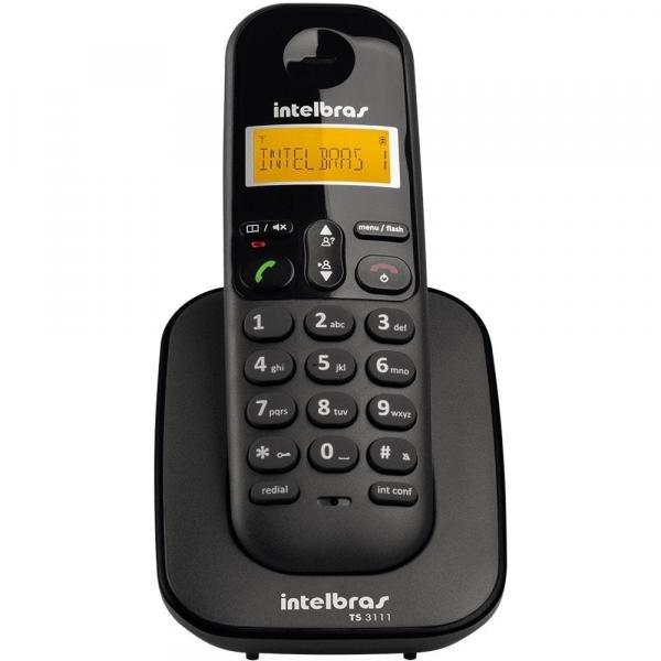 Telefone Sem Fio Intelbras TS3111 Ramal Preto
