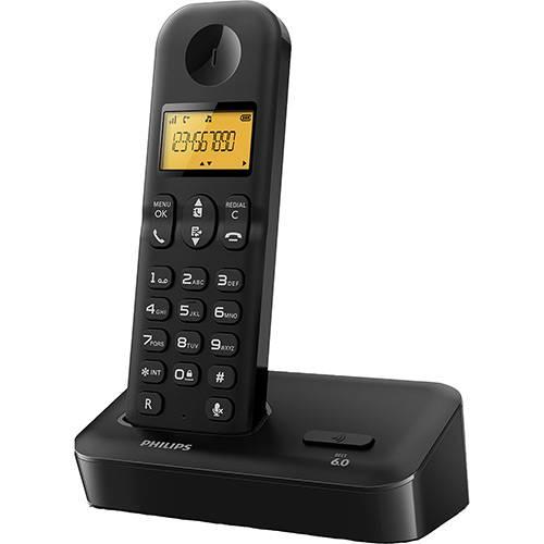 Tudo sobre 'Telefone Sem Fio Philips Preto D1501B/BR com Identificador de Chamadas'