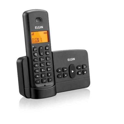 Telefone Sem Fio Preto Elgin com Secretária Eletronica - Tsf 800SE PRETO