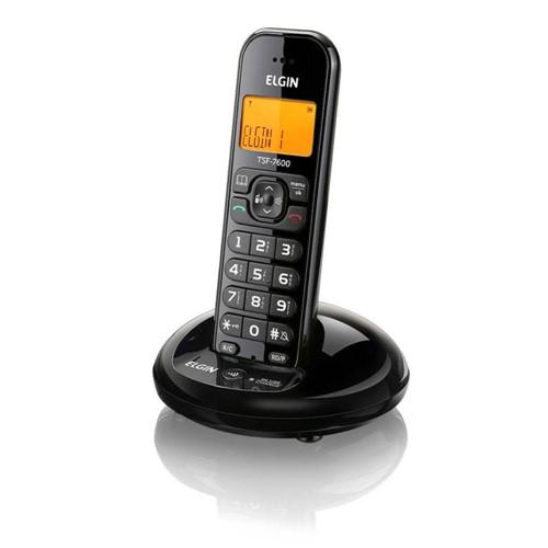 Tudo sobre 'Telefone Sem Fio Preto Tsf7600 Elgin'
