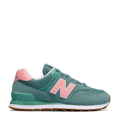 Tênis New Balance 574 Verde Rosa