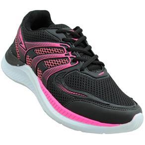 Tênis Record Jogging Feminino - 34 - PRETO