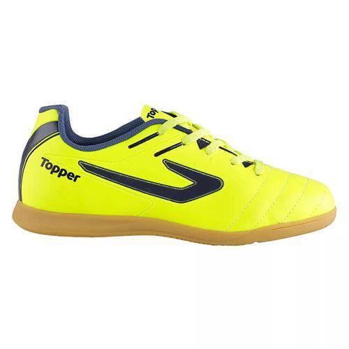 Tudo sobre 'Tênis Salão Topper Boleiro Amarelo Neon/Marinho'