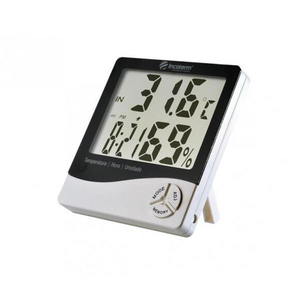 Termo-higrômetro Digital -10C +50C 20 90% UR Máxima e Mínima Incoterm