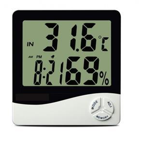 Termo Higrometro Digital com Maxima e Minima Medidor de Temperatura e Umidade com Relogio e Alarme Incoterm