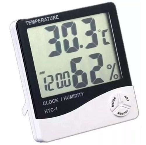 Termo - Higrômetro Digital com Relógio,alarme,calendário