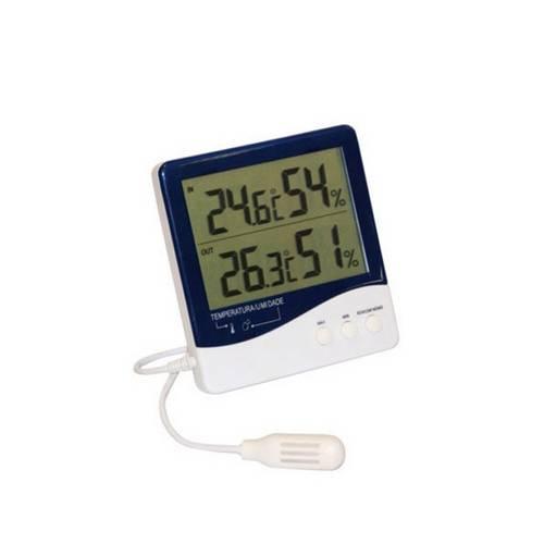 Termo-Higrômetro Digital com Temp. Int.E Externa e Umidade Int. e Externa 766401000 - Incoterm