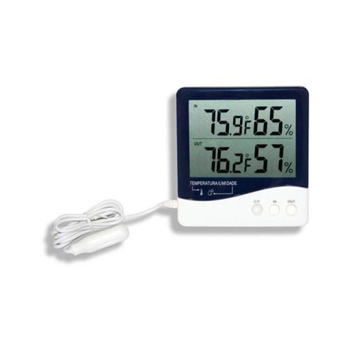Termo - Higrômetro Digital Incoterm Temperatura e Umidade Interna / Externa -10+60°c 7664.01.0.00