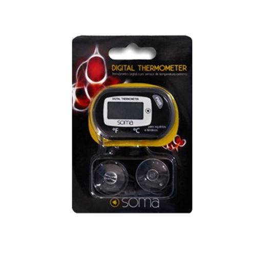 Tudo sobre 'Termômetro Digital com Sensor Soma Tela LCD'