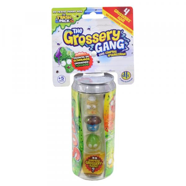 The Grossery Gang - Soda Lata - 4 Personagens - DTC