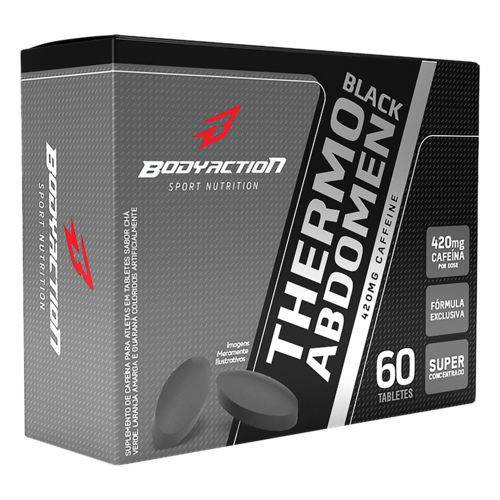 Thermo Abdomen Black Blister - 60 Tabletes - Body Action