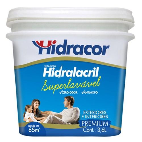 Tinta Acrílica Acetinado Hidralacril Premium Areia 3,6L Hidracor