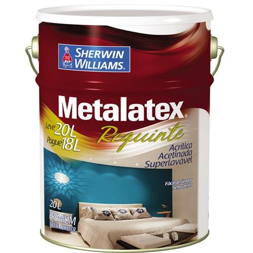 Tinta Acrílica Acetinado Metalatex Requinte Superlavável Premium Branco 20L Sherwin Williams