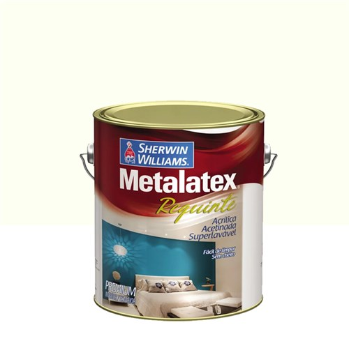 Tinta Acrílica Acetinado Metalatex Requinte Superlavável Premium Branco 3,6L Sherwin Williams