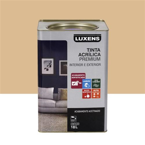 Tudo sobre 'Tinta Acrílica Acetinado Premium Algodão Cru Natural 18L Luxens'