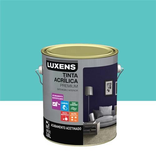 Tudo sobre 'Tinta Acrílica Acetinado Premium Caribbean Natural 3,6L Luxens'