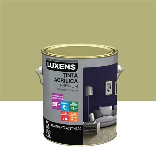 Tudo sobre 'Tinta Acrílica Acetinado Premium Pistache Natural 3,6L Luxens'