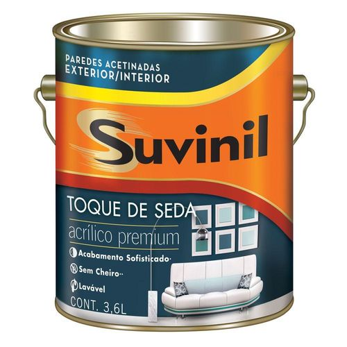 Tinta Acrilica Acetinado Toque de Seda Premium Branco 3,6lt - Suvinil