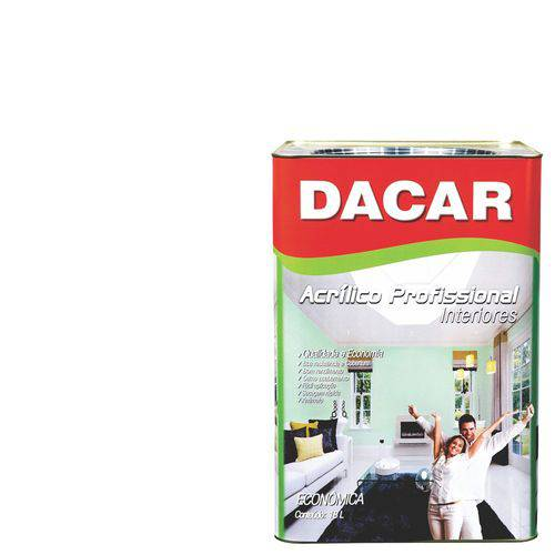 Tinta Acrílica Dacar Fosco Profissional 18 L Branco