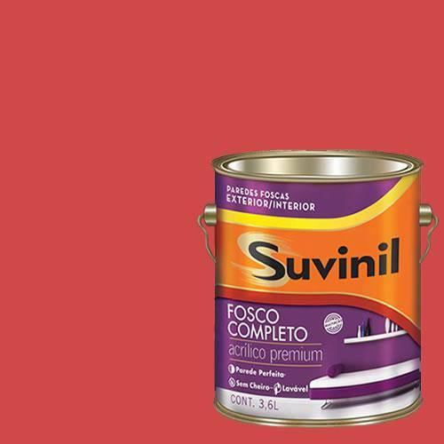 Tinta Acrilica Fosca Premium Suvinil Romã 3,6L.