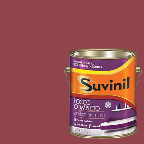 Tinta Acrilica Fosca Premium Suvinil Rubi 3,6L.