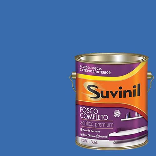 Tinta Acrilica Fosca Premium Suvinil Safira 3,6l.