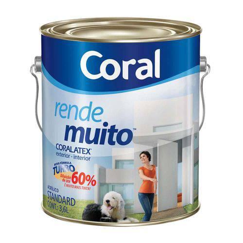 Tudo sobre 'Tinta Acrílica Fosca Rende Muito Areia 3,6l Coral'