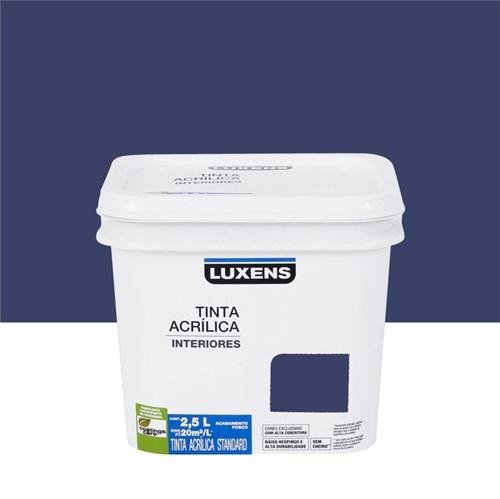 Tudo sobre 'Tinta Acrílica Fosca Standard Azul Escuro 2,5L Luxens'