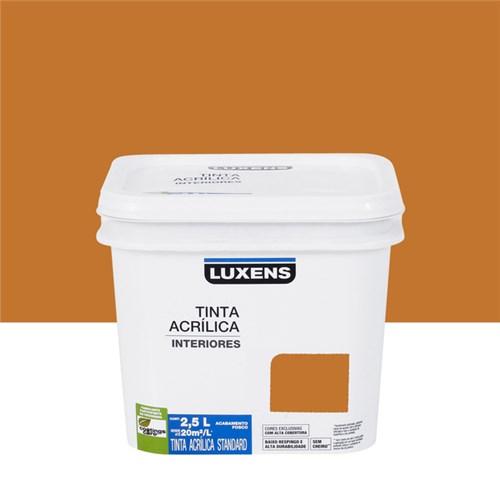 Tudo sobre 'Tinta Acrílica Fosca Standard Laranja Queimado 2,5L Luxens'