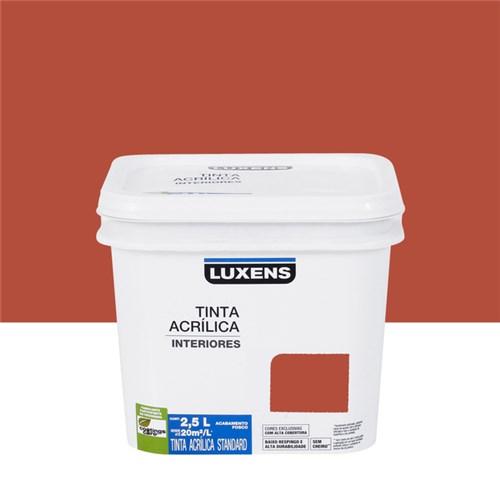 Tudo sobre 'Tinta Acrílica Fosca Standard Vermelho Terra 2,5L Luxens'