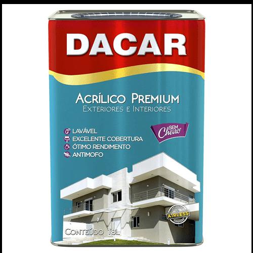 Tinta Acrílica Semibrilho Branco Premium Dacar 18l