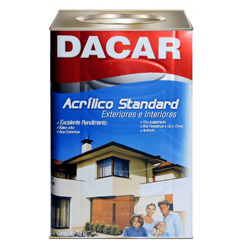 Tinta Acrílica Fosco Branco Standard Dacar 18l