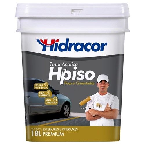 Tinta Acrílica Fosco Piso Premium Amarelo Demarcação 18L Hidracor