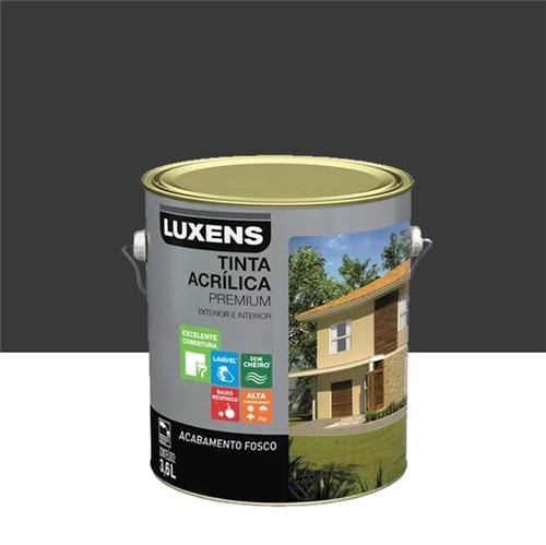 Tinta Acrílica Fosco Premium Preto 3,6L Luxens