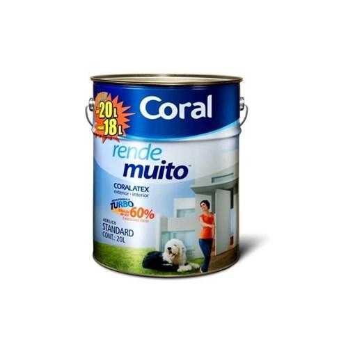 Tinta Acrílica Fosco Standard Rende Muito Branca Neve 20L Coral