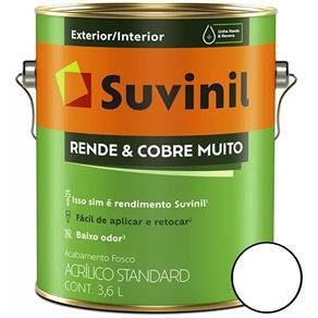 Tinta Acrílica Rende & Cobre Muito Fosco - 3.6 Litros - Branco - 50308370