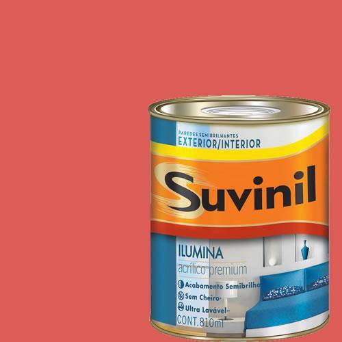 Tinta Acrilica Semi Brilho Premium Suvinil Melancia 900Ml.