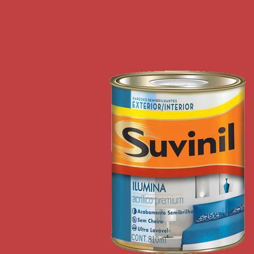 Tinta Acrilica Semi Brilho Premium Suvinil Morango 900Ml.