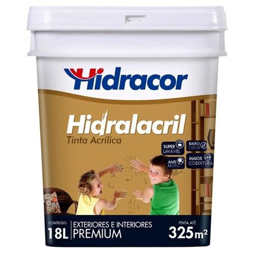 Tudo sobre 'Tinta Acrílica Acetinado Hidralacril Premium Areia 18L Hidracor'