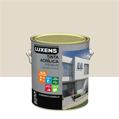 Tinta Acrílica Semibrilho Premium Gelo 3,6L Luxens