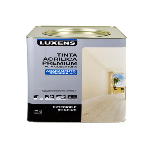 Tinta Acrílica Semibrilho Premium Branco 7,2L Luxens