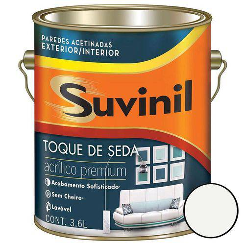 Tinta Acrílica Toque de Seda Branco Neve 3,6 Litros - 53422448 - SUVINIL