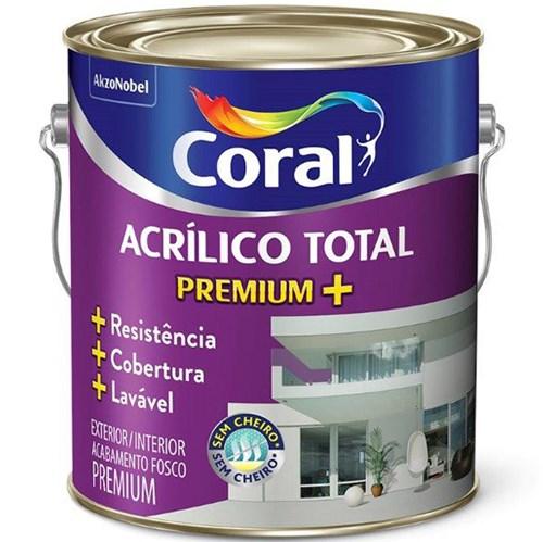 Tinta Acrílico Total Fosco Premium Branco 3,6L Coral
