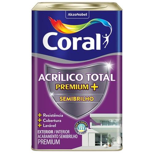 Tinta Acrílico Total Semibrilho Premium Branco 18L Coral