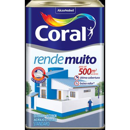 Tinta Coral Acrílico Rende Muito Fosco Coral Rende Muito - Branco Neve