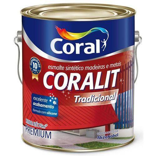 Tinta Coral Esmalte Coralit, Acetinado, Branco, Galão 3,6 Litros