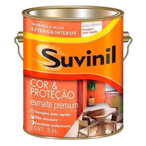 Tinta Esmalte Cor e Proteção Acetinado Branco Neve 3,6L - Suvinil