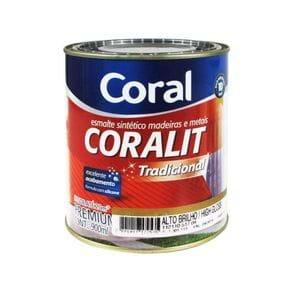 Tinta Esmalte Sintético 0,9lts Acetinado Coralit Branco Coral