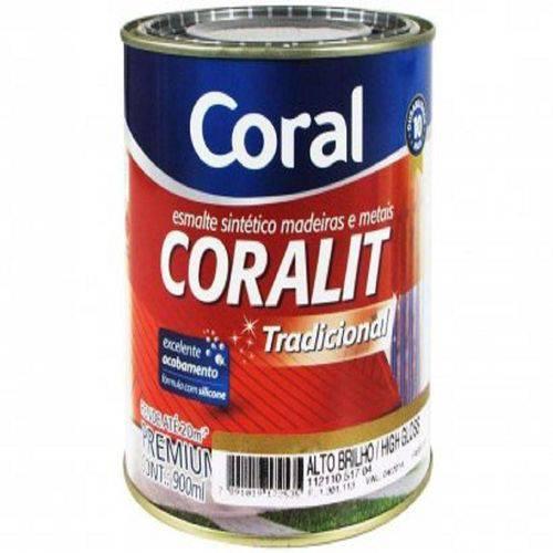 Tinta Esmalte Sintético Acetinado Branco Coralit 0,9 Lt - Coral